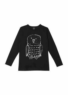 AARREkid Pöllö pitkähihainen paita - Musta 221fa3c15e